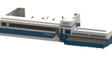 The high production, fully automatic FLTA series is an affordable fiber laser tube cutting system from Horn Machine Tools that loads the tube into the cutting area and processes the cut parts without assistance from the operator.