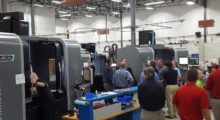 Hurco distributor partners toured the John Force Racing manufacturing operation at the Hurco National Sales Meeting. John Force Racing has a fleet of Hurco CNC machines to manufacture parts for their NHRA dragsters and funny cars in addition to parts for their Force American Made division.