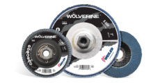 Booth N-3704: Upgraded Wolverine flap discs from Weiler feature a self-sharpening Zirconia Alumina grain that delivers aggressive grinding from start to finish, along with an improved cloth design that provides a 25 percent longer life compared to previous Vortec Pro products.