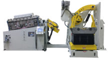 """This """"Fineblanking Edition"""" HD straightener, coil reel with HD hold-down arm, and """"alligator"""" style peeler threader from COE Press was installed  at UTIL Canada. The straightener provides the necessary roll force delivery and rigidity required to achieve the flatness and tolerance required for producing near net shape blanked parts."""