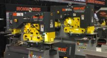 Booth C-27097: The versatile new line of ironworkers from Marvel provide a quiet punching system and include newly upgraded features such as LED lighting, external stroke controls and a removable T-slot table.