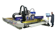 With state-of-the-art, industry-leading traverse speeds of 3,000 ipm, a robust design and high acceleration drives, the MetalMaster Xcel is the fastest plasma cutting machine on the market. It performs HPR400XD plasma bevel cutting and PinStamp marking and features a fiber laser cutting head and digital camera.