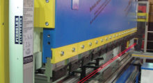 Booth C-22092: The Fiessler AKAS 3-P from Press Brake Safety is the first co-moving press brake safety system to provide high speed operation up to the clamp point. The operator's hands or fingers are protected by the presence of the 3D safety laser beam grid located beneath the ram.