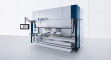 Booth C-35041: Equipped with a new On-Demand Servo Drive with 4-cylinder drive technology, the new TruBend Series 5000 bending machine from TRUMPF features high access speeds and acceleration rates combined with innovative operating aids.