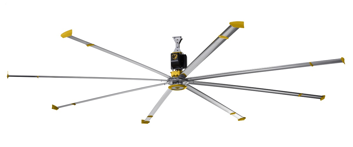 smart fan for industrial spaces. Black Bedroom Furniture Sets. Home Design Ideas