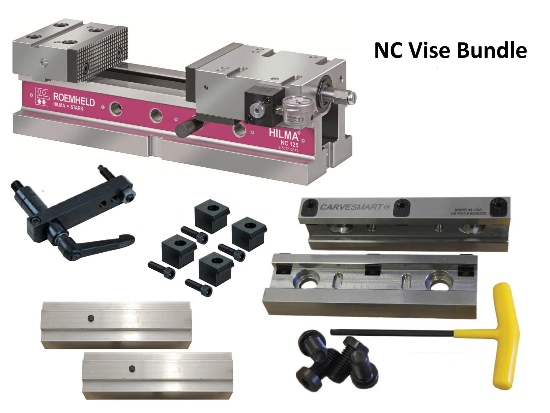 CNC Vise with Precision Quick Change Jaw Set