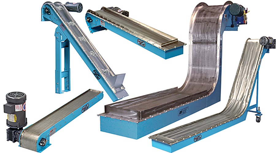 Move Abrasive, Oily Ferrous Chips and Parts with No Jammed Belts or ...