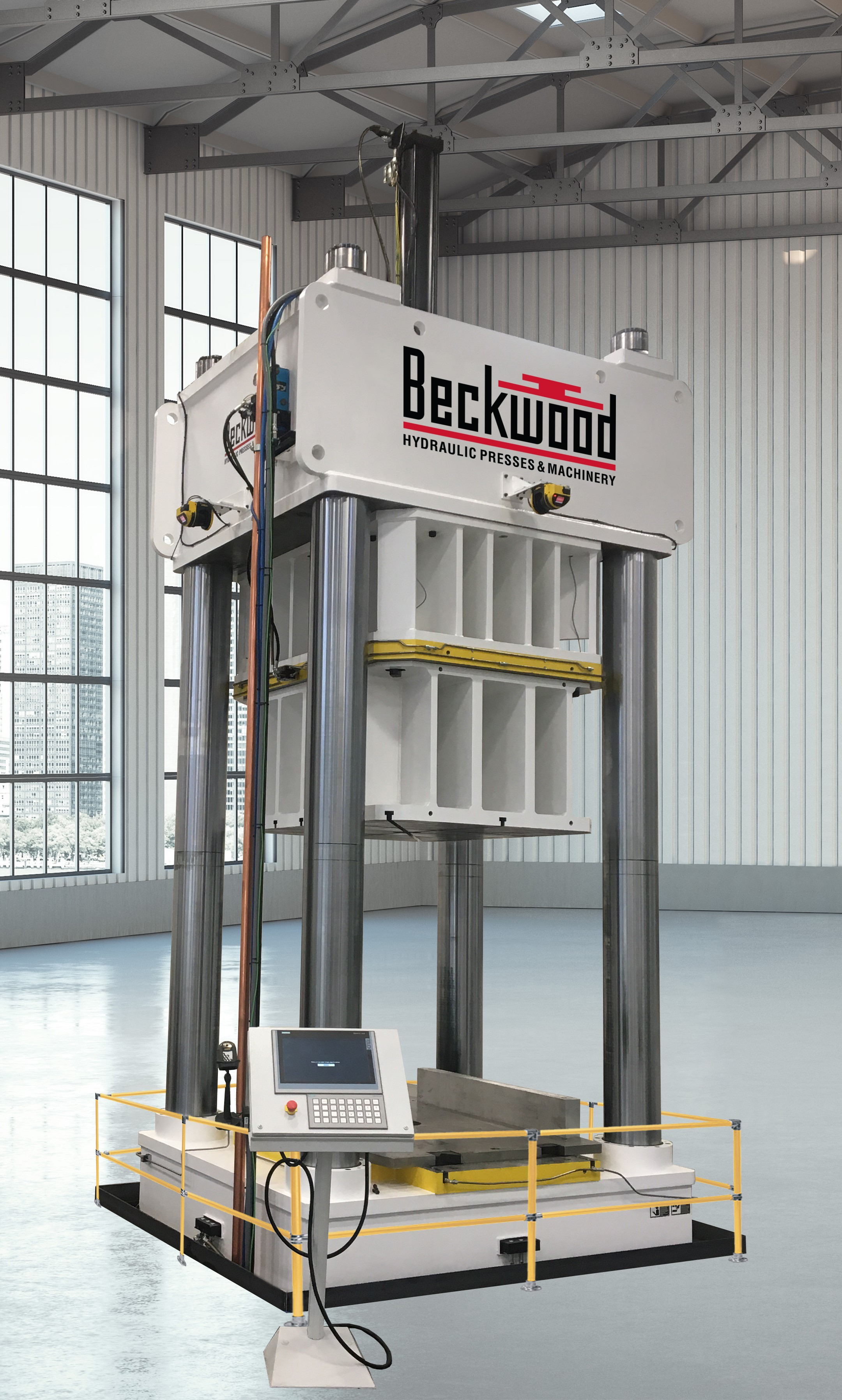 It Is Rocket Science A Workcell For Forming Aircraft Components Parts On Each Of The 1400 Lb Hydraulic Presses Used In Quick Die Change Qdc Assembly Are Four Post Frame Styles With Replaceable Graphite Impregnated Bronze