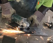 Mississippi-based Ci Metal Fabrication uses on hand-held bevellers and grinders to deburr components.